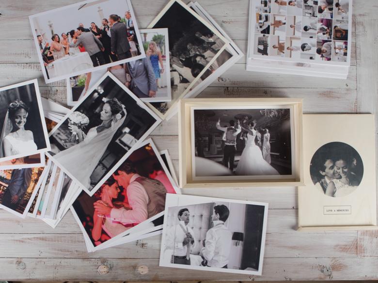 caja fotos madera