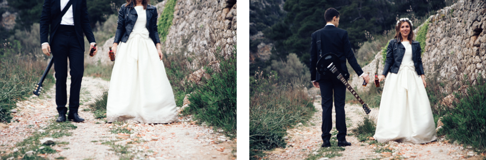rustic postwedding spain mountains