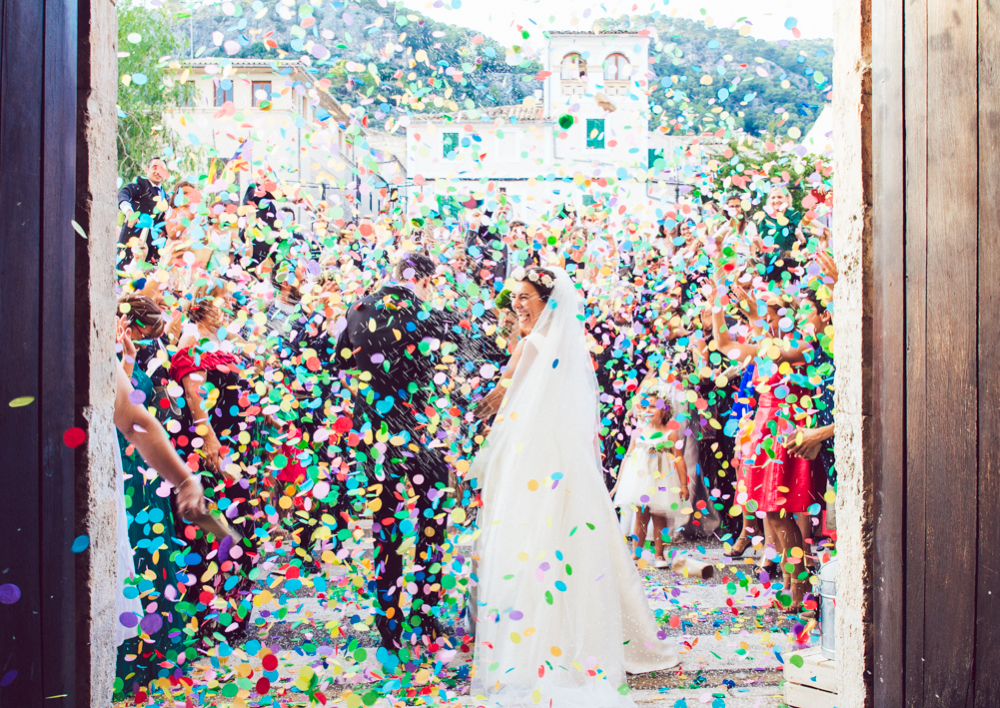 confetti salida boda wedding Hochzeit spain